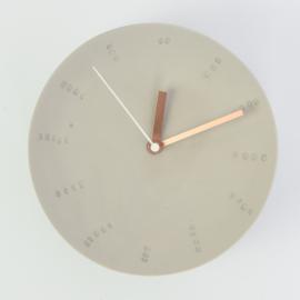 Clock - Large   Grey