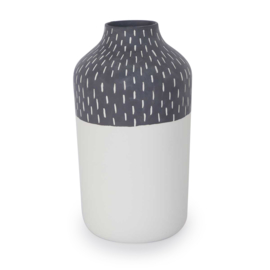 Clay vase | L | Black | Big stripe