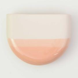 Dip wall vase | Half round | Nude 067