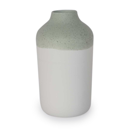 Clay vase | L | Green | Dots