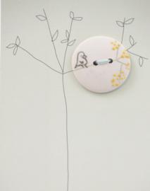Button | Bird | Pink