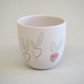 Cup food | Small | Pink | Radish