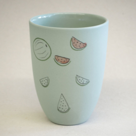 Cup food | Medium | Green | Watermelon