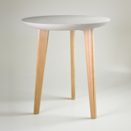Porcelain table | Mouse grey