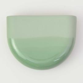 Dip wall vase | Half round | Green 071