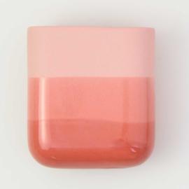 Dip wall vase | Short | Red 059