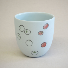 Cup food | Small | Light blue | Tomato
