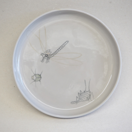 Plate Insect | Breakfast | Grey