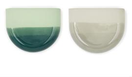 Dip wall vase | Half round