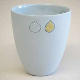 Cup food | Large | Blue | Lemon