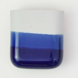 Dip wall vase | Short | Mouse grey 094