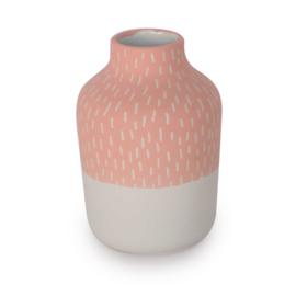 Clay vase | S | Red | Big stripe