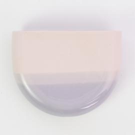 Dip wall vase   Half round   Pink 077