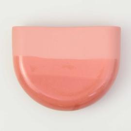 Dip wall vase | Half round | Red 059