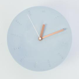 Clock - Large   Blue