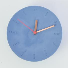 Clock - Large   Cobalt