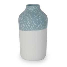 Clay vase | L | Blue | Big stripe
