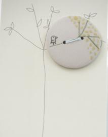 Button | Bird | Grey
