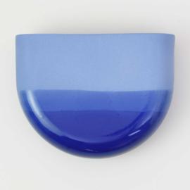 Dip wall vase | Half round | Cobalt 094