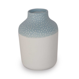 Clay vase | S | Blue | Small stripe