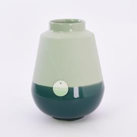 Dip vase   L    Green 062