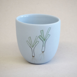 Cup food | Small | Blue | Leek