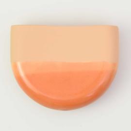 Dip wall vase | Half round | Orange 054