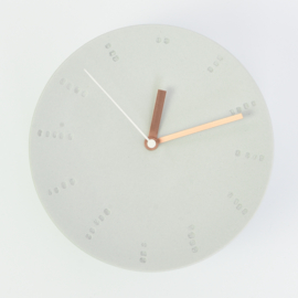 Clock - Large   Mouse grey