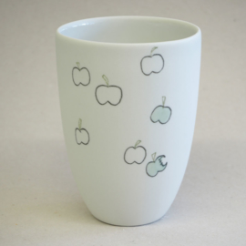Cup food | Medium | White | Apple