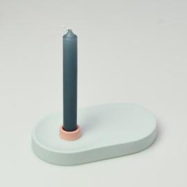 Candle Holder - singel wide | Light blue 413