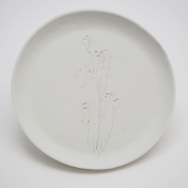 Plant stamp plate | L | White