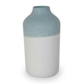 Clay vase | L | Blue | Small stripe
