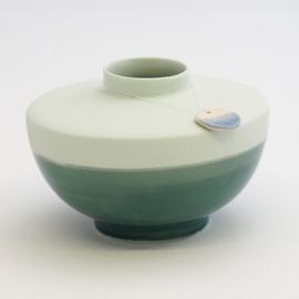 Dip vase | Wide | Mint | 062