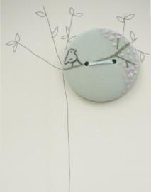 Button | Bird | Green