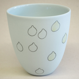 Cup food | Large | Light blue | Lemon
