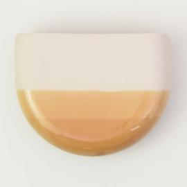 Dip wall vase | Half round | Nude 041
