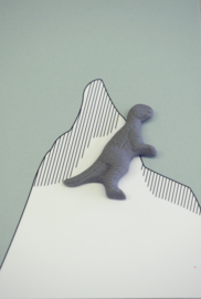 Brooche | Dinosaur | 4 | Dark grey