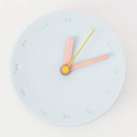 Clock - Small   Light blue