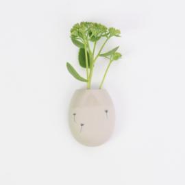 Wall flower vase | M | Brown