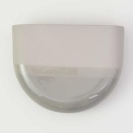 Dip wall vase | Half round | Grey 090