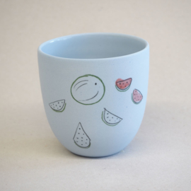 Cup food | Small | Blue | Watermelon