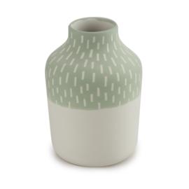 Clay vase | S | Green | Big stripe