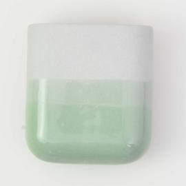 Dip wall vase | Short | Mouse grey 071