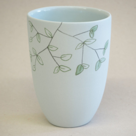 Cup food | Medium | Light blue | Fresh mint