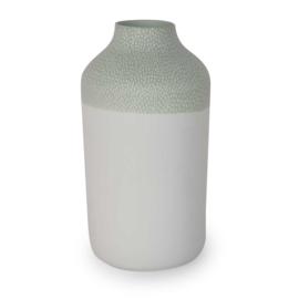 Clay vase | L | Green | Small stripe