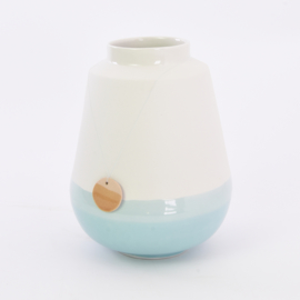 Dip vase   L    White 057