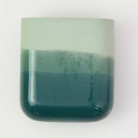 Dip wall vase | Short | Green 062