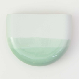 Dip wall vase | Half round | Mint 071