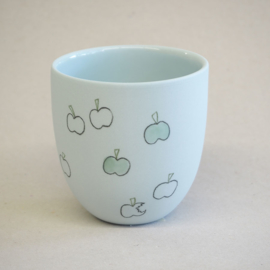 Cup food | Small | Light blue | Apple
