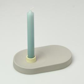 Candle Holder - singel wide | Grey 1014